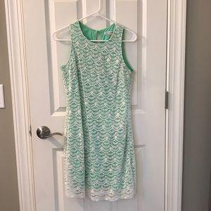 Southern Tide lace overlay dress